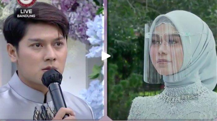 Rizky Billar saat melamar Lesti Kejora yang disiarkan langsung di Indosiar, Minggu (13/6/2021).