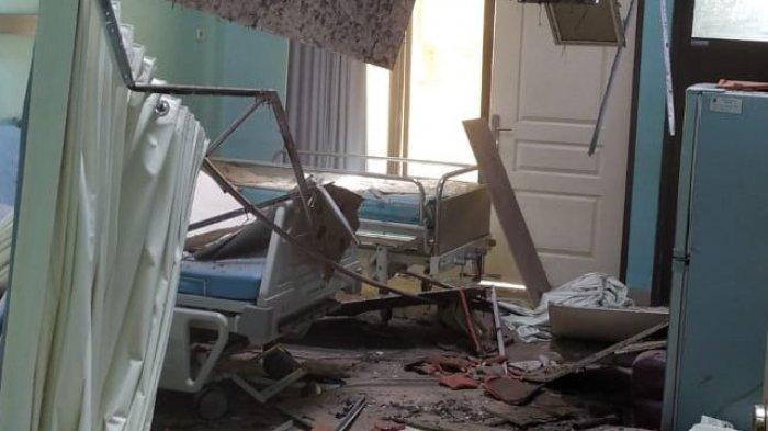 Rumah Sakit Mardi Waluya di Kabupaten Blitar, Provinsi Jawa Timur yang terdampak gempa M6,1 pada Sabtu (10/4/2021).