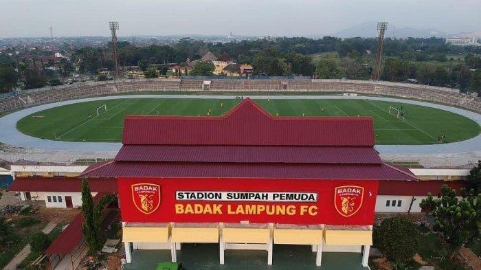 Stadion Sumpah Pemuda di Kota Lampung markas klub Liga 2, Badak Lampung FC.