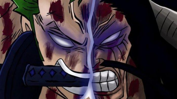 Zoro dan Kaido di One Piece - Link Baca Manga One Piece 1010, Zoro Tumbang Digebuk Kaido, Kid Pisahkan Big Mom, Luffy Bangkit