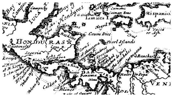 Peta dalam buku A New Voyage Round the World yang diterbitkan tahun 1697
