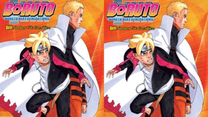 Boruto chapter 51 yang menampilkan Hokage Naruto dan Boruto