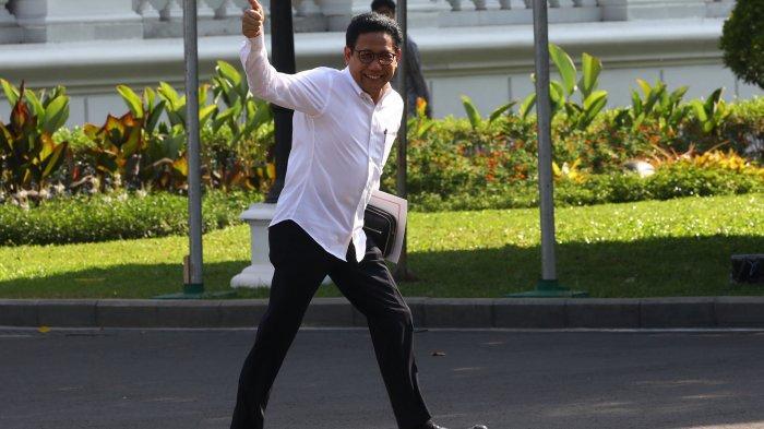 Politisi PKB Abdul Halim Iskandar meninggalkan Kompleks Istana Kepresidenan, Jakarta, Selasa (22/10/2019). Menurut rencana, presiden Joko Widodo akan memperkenalkan jajaran kabinet barunya kepada publik hari ini usai dilantik Minggu (20/10/2019) kemarin untuk masa jabatan periode 2019-2024 bersama Wakil Presiden Ma'ruf Amin. (TRIBUNNEWS/IRWAN RISMAWAN)