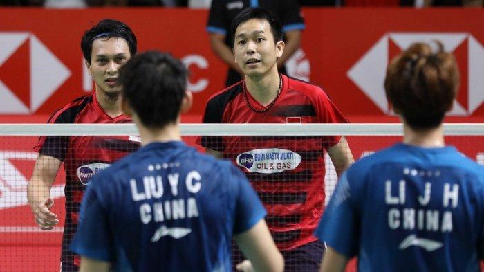 Mohammad Ahsan/Hendra Setiawan kembali menghadapi Ganda Putra China, Li Junhui/Liu Yuchen. (Dok.BadmintonIndonesia)
