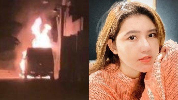 Via Vallen ancam pelaku pembakaran mobilnya.
