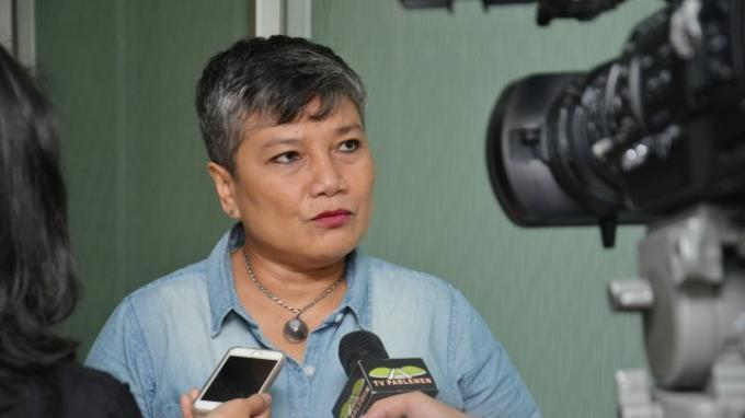 Anggota Komisi IX DPR Ribka Tjiptaning di Gedung DPR