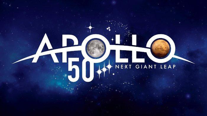 Logo yang dibuat oleh NASA untuk memperingati 50 tahun keberhasilan Apollo 11 mendaratkan manusia ke Bulan
