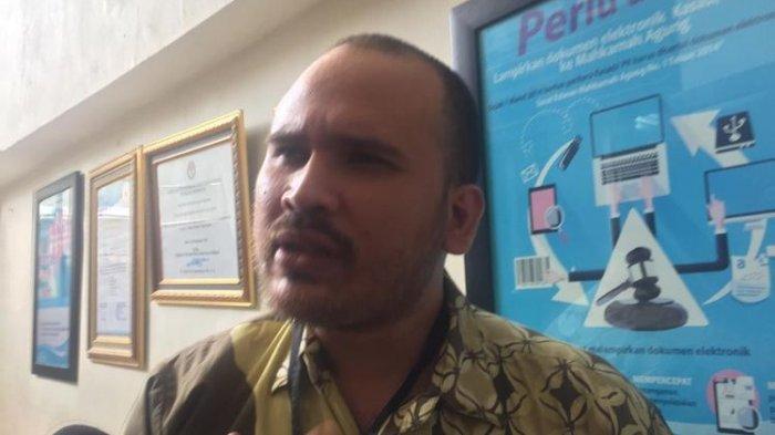 Arya Satria Claproth aaat ditemui di Pengadilan Negeri Jakarta Selatan, Selasa (3/12/2019). (KOMPAS.com/Revi C Rantung)