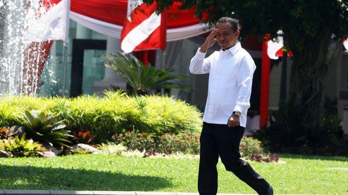 Mantan Ketua HIPMI Bahlil Lahadalia tiba di Kompleks Istana Kepresidenan, Jakarta, Selasa (22/10/2019). Menurut rencana, presiden Joko Widodo akan memperkenalkan jajaran kabinet barunya kepada publik hari ini usai dilantik Minggu (20/10/2019) kemarin untuk masa jabatan periode 2019-2024 bersama Wakil Presiden Ma'ruf Amin. (TRIBUNNEWS/IRWAN RISMAWAN)