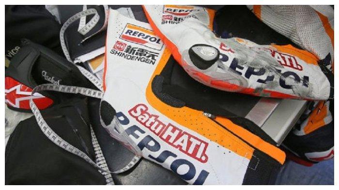 Baju balap (wearpack) MotoGP yang dibuat Alpinestars