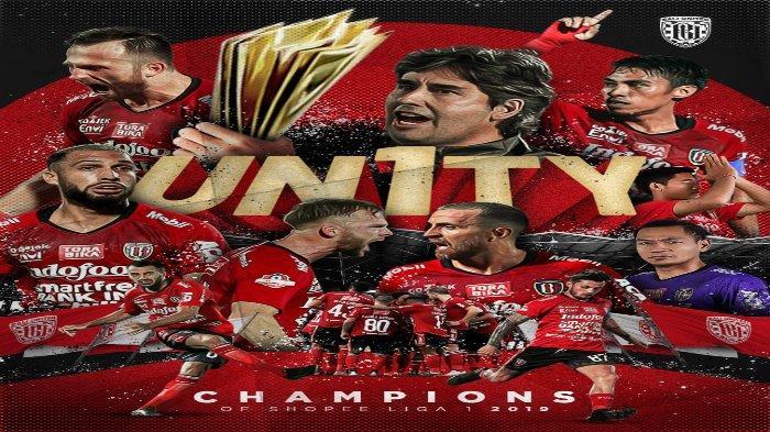 Bali United, juara Liga 1 2019.