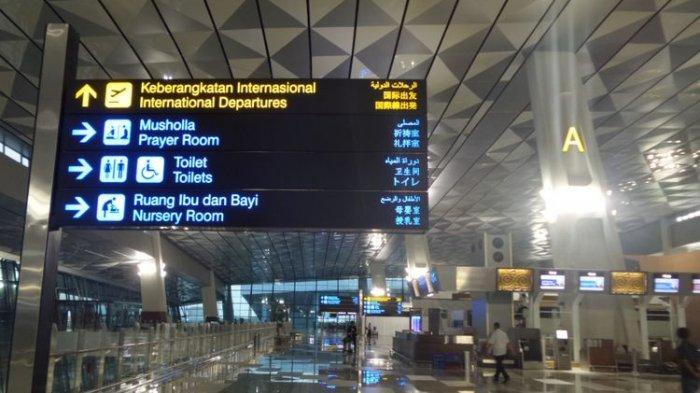 Terminal 3 Bandara Soekarno-Hatta, Cengkareng, Tangerang Banten, Selasa (28/3/2017).