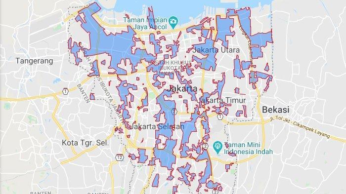 Sejumlah titik banjir DKI Jakarta pada Selasa, 25 Februari 2020. Ketinggian air diinformasikan berkisar antara 25-70 cm.