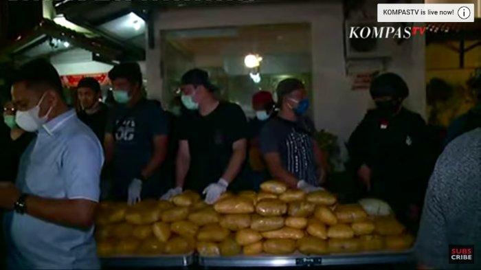 Barang bukti 200 Kg Sabu dalam penggerebekan bandar narkoba di Petamburan