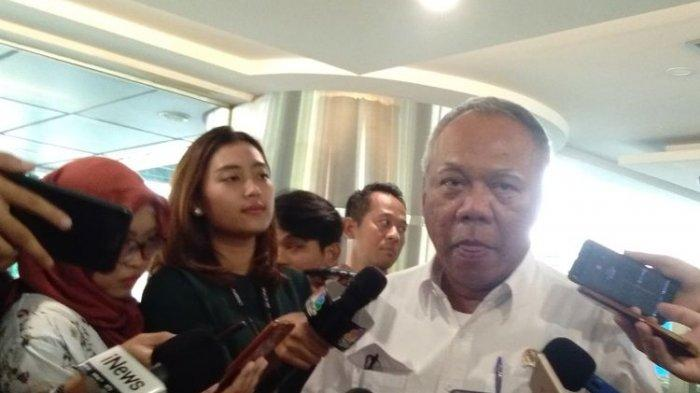 Menteri PUPR, Basuki Hadimuljono ditemui di Kantor Kemenko Maritim dan Investasi, Jakarta, Jumat (3/1/2020).(KOMPAS.com/ADE MIRANTI KARUNIA SARI)
