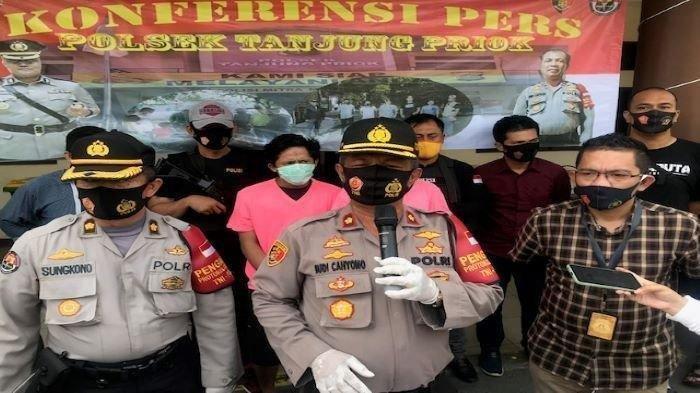 Konferensi pers di Mapolsek Tanjung Priok, Jakarta Utara, Kamis (10/9/2020).
