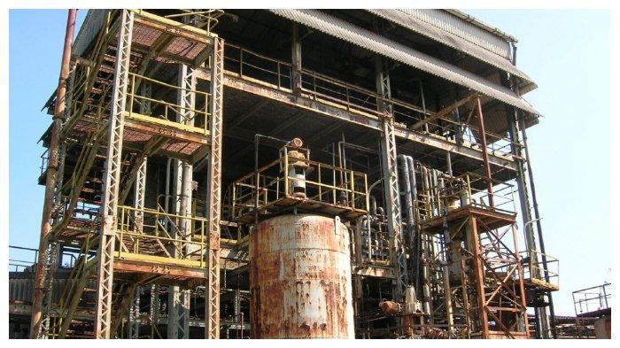 Bekas pabrik pestisida UCIL di Bhopal, India