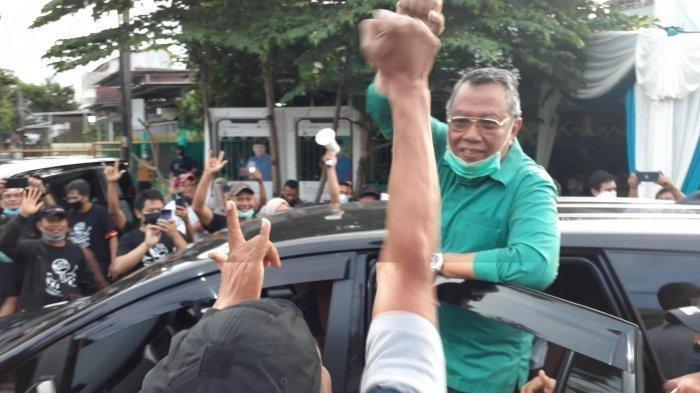 Benyamin Davnie - Pilar Saga Ichsan di Rumah Pemenangan, Villa Melati Mas, Serpong Utara, Rabu (9/12/2020).