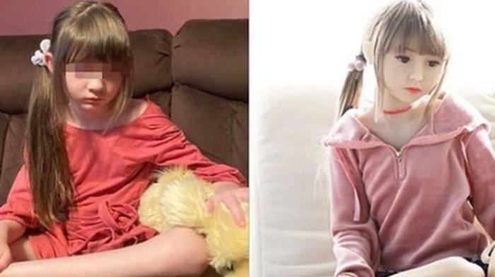Boneka seks anak yang wajahnya mirip putri Terri warga negara bagian California, Amerika Serikat.