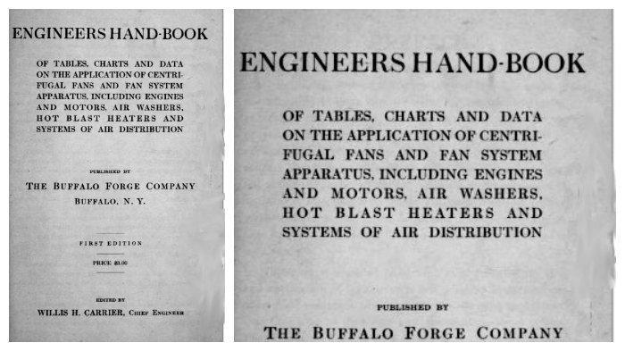 Buku panduan teknisi, diedit Willis Carrier
