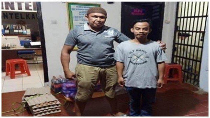 F(26) (kanan) yang melakukan perundungan terhadapa RL (12) penjual jalangkote asal Kabupaten Pangkep, Sulawesi Selatan.
