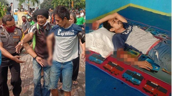 Pria Tambora D gagal bunuh diri di perlintasan kereta api Jembatan Besi, Tambora, Jakarta Barat, Rabu (22/7/2020)