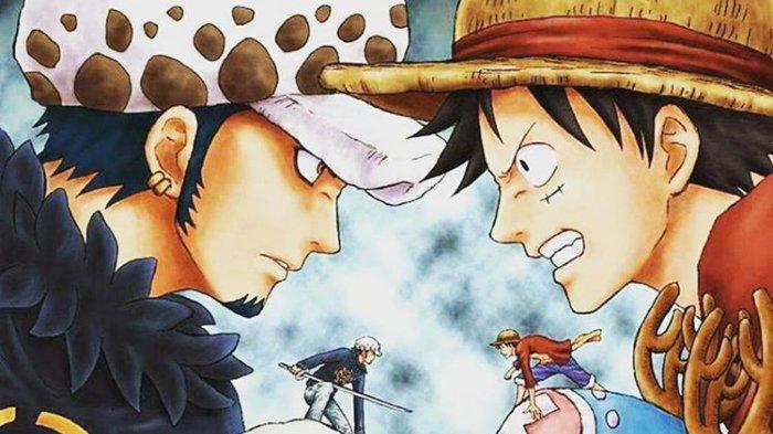 Trafalgar D Law dan Monkey D Luffy di One Piece