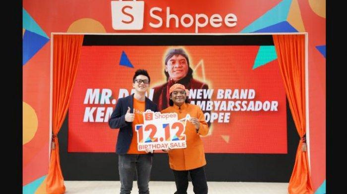 Didi Kempot terpilih menjadi duta atau brand ambassador Shopee saat perayaan Shopee Birthday Sale 12.12 pada Desember 2019 lalu.