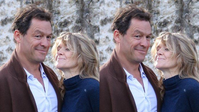 Dominic West dan istrinya, Catherine FitzGerald.