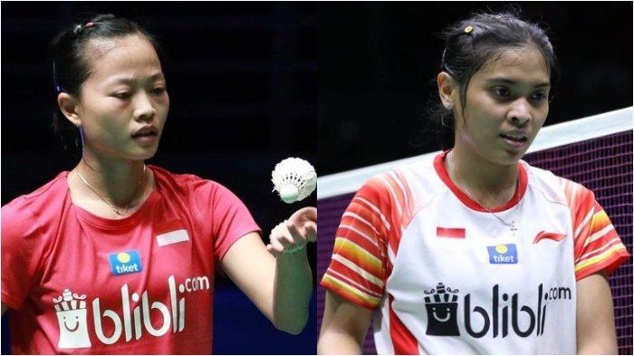 Dua wakil tunggal putri Indonesia yakni Fitriani dan Gregoria Mariska Tunjung