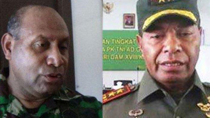 Mayjen TNI Herman Asaribab, Pangdam XVII/Cenderawasih dan Mayjen TNI Joppye Onesimus Wayangkau, Pangdam XVIII/Kasuari.