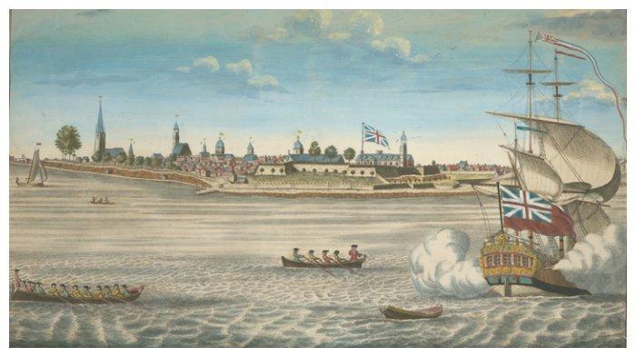 Pelabuhan Fort George di New York tahun 1731