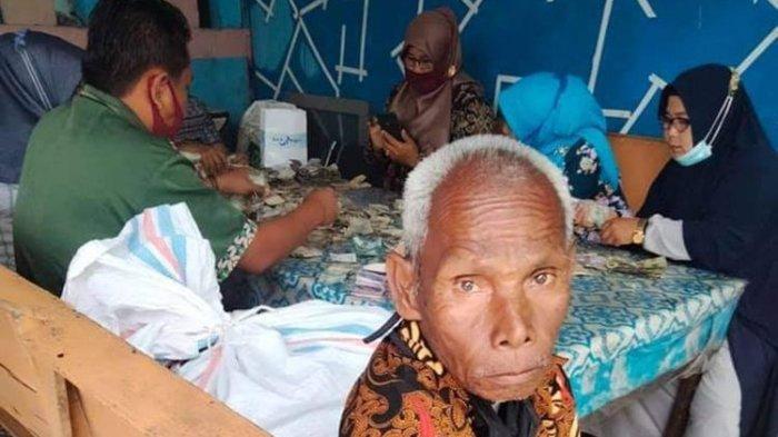 Kakek Biok yang menyimpan uang Rp 81 juta dalam karung hasil upah mencuci piring