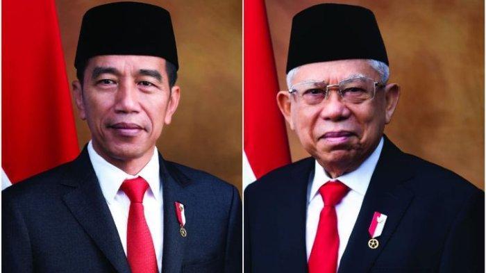 Foto Resmi Presiden dan Wakil Presiden Indonesia 2019-2024, Joko Widodo dan KH. Ma'ruf Amin