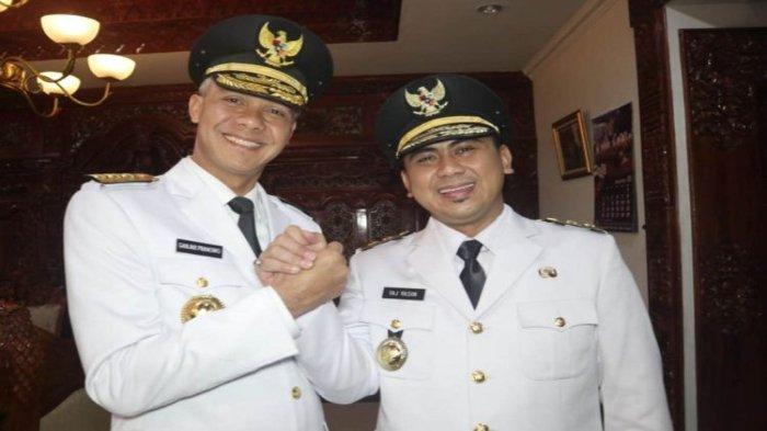 Ganjar Pranowo dan Taj Yasin memenangkan Pilkada 2018 sebagai Gubernur dan Wakil Gubernur Jawa Tengah 2018-2023