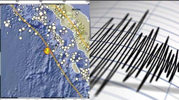 Gempa di Nias Barat berkekuatan 7,2 M