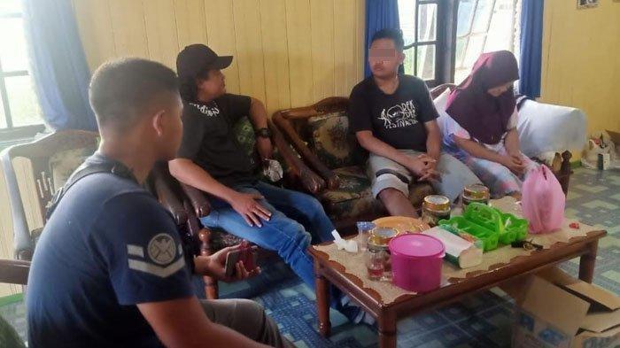 Gilang pelaku fetish kain jarik ditangkap polisi di Kapuas, Kalimantan Tengha pada Kamis (6/8/2020) sore.