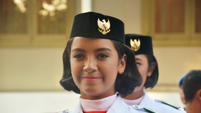 Gloria Hamel saat masih menjadi anggota Paskibraka 17 Agustus 2016.