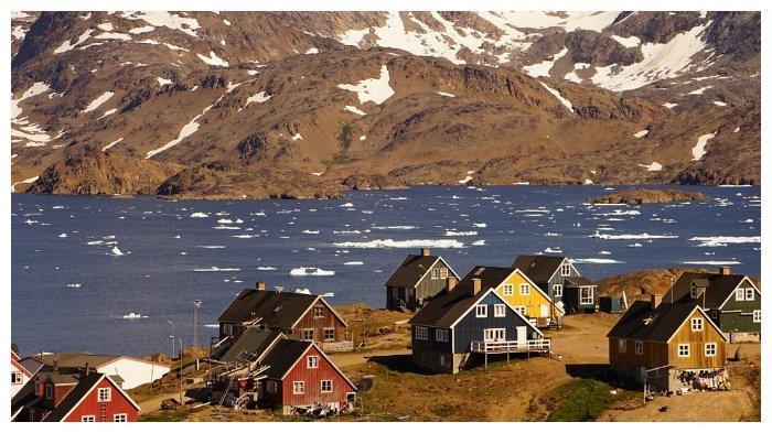 Ilustrasi sebuah desa di Greenland.