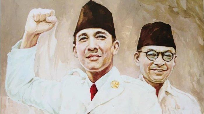 Ir Soekarno dan Mohammad Hatta. Kisah Persahabatan Sejati Soekarno-Hatta: Beda Pandangan Politik, Tapi Saling Sayang di saat Susah.