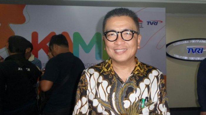 Helmy Yahya di Gedung TVRI, Senayan, Jakarta Pusat, Rabu (14/2/2018).(KOMPAS.com/Tri Susanto Setiawan)