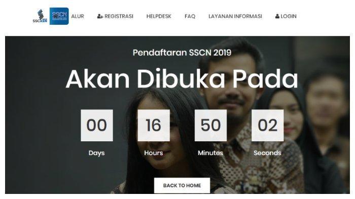 Hitung Mundur Pendaftaran CPNS, sscn.bkn.go.id