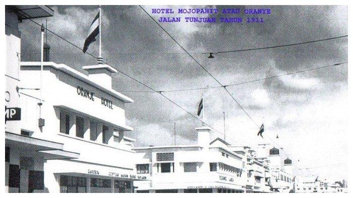 Foto Hotel Oranje di Surabaya sekitar tahun 1911. (surabaya.go.id)