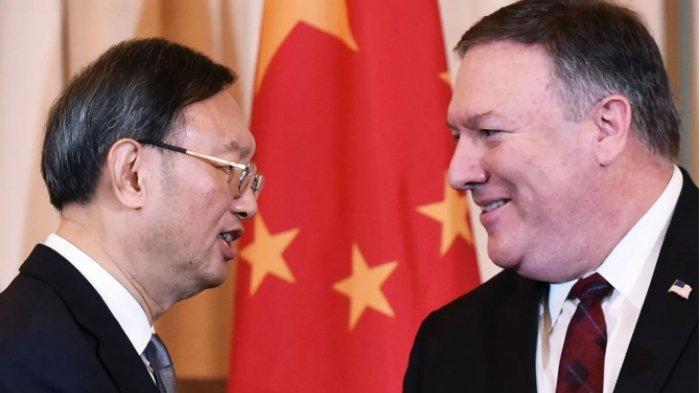 Anggota Politbiro China Yang Jiechi dan Menteri Luar Negeri AS Mike Pompeo akan memimpin masing-masing pihak dalam pembicaraan tingkat tinggi di Hawaii. Foto: AFP