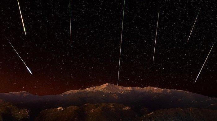 Hujan meteor Perseid di Colorado.