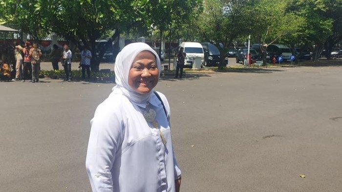 Politisi Partai Kebangkitan Bangsa Ida Fauziah mendatangi Istana Kepresidenan, Jakarta, Selasa (22/10/2019).(KOMPAS.com/Ihsanuddin)