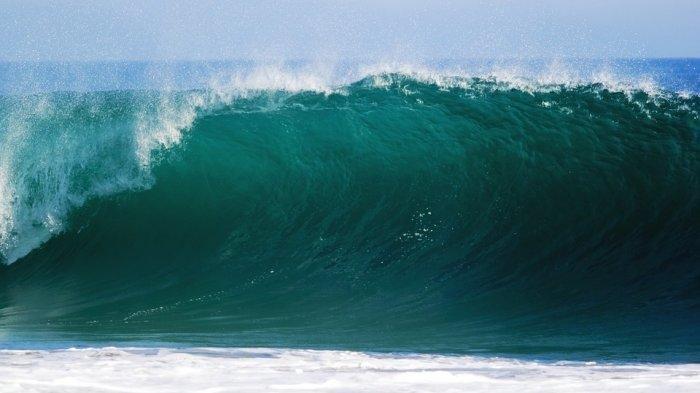 Ilustrasi gelombang tinggi.