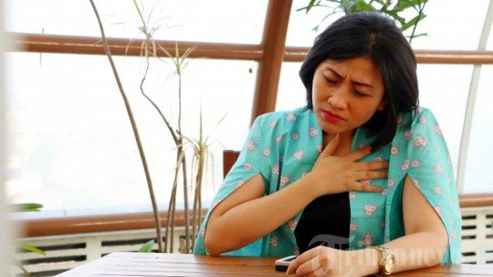 Ilustrasi penderita radang paru-paru atau pneumonia, Semarang, Sabtu (29/8/2015).