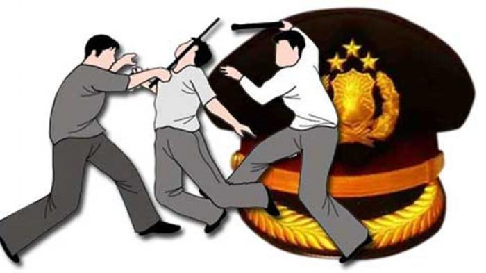Ilustrasi penganiayaan oleh oknum polisi