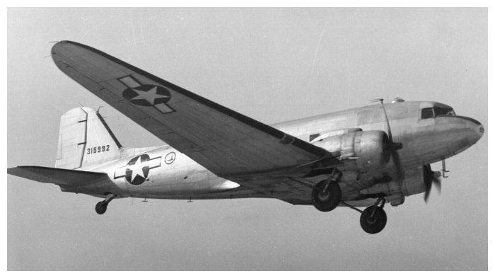 Ilustrasi pesawat Douglas C-47